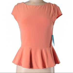 Alice + Olivia NWOT orange blouse